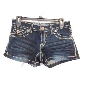 Hydraulic Womens Denim Jean Jeans Shorts 5/6 thick